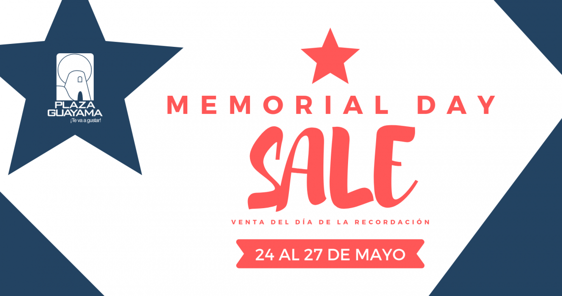 Memorial Day Sale – Mayo 24 al 27